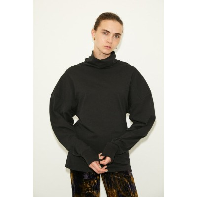 PADDED L/S トップス BLK