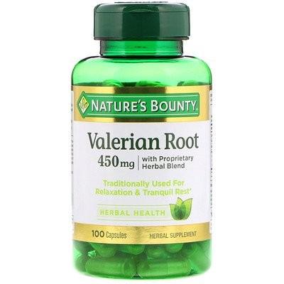 独自開発ハーバルブレンドのカノコソウの根、450 mg、100カプセル