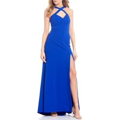 シークインハーツ レディース ワンピース トップス X-Front High-Slit Long Dress