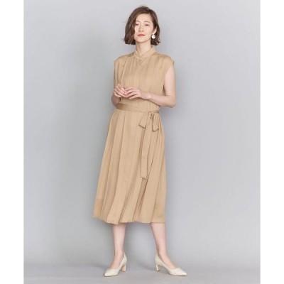 ドレス BY DRESS プリーツバンドカラーシャツドレスо