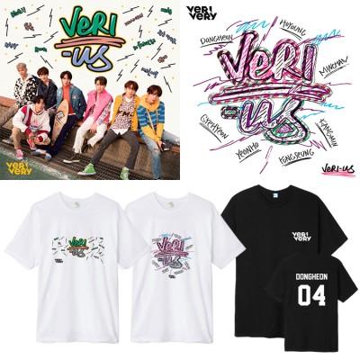 大人気!VERIVERY 週辺 半袖Tシャツ 韓国ファッション 男女兼用  トップス 韓国 K-POP  応援グッズ