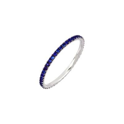 ボニー レヴィ リング アクセサリー レディース Slim Sapphire Eternity Stacking Ring White Gold/ Sapphire