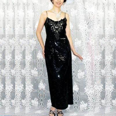 フォーマルドレス [プレーンなドレスのフロントを飾るアップリケがキュート!] GF-004
