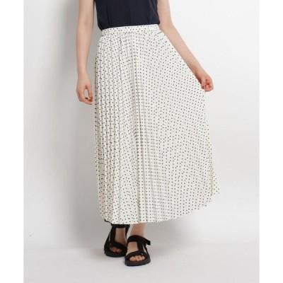 Dessin / デッサン 【XS~Lサイズあり・洗える】ドット柄プリーツスカート