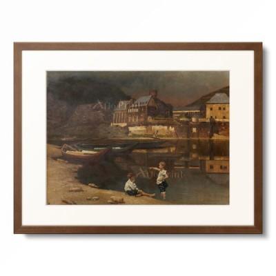 Karl M Pidoll zu Quintenbach 「Landscape in Luxembourg. 1889」