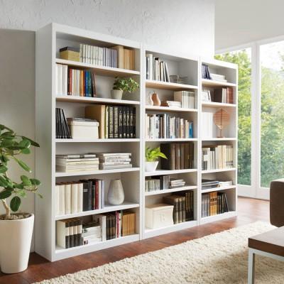 頑丈棚板がっちり書棚(頑丈本棚) ハイタイプ 幅80cm ダークブラウン
