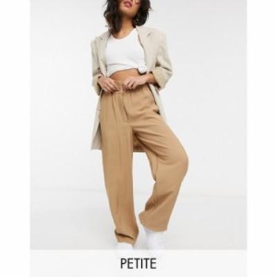 ヴィラ Vila Petite レディース ボトムス・パンツ ワイドパンツ Wide Leg Trousers With Paperbag Waist In Camel キャメル