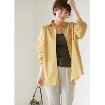 【スタイルデリ】 ニュアンス生地オーバーサイズシャツ レディース イエロー F(フリーサイズ) STYLE DELI