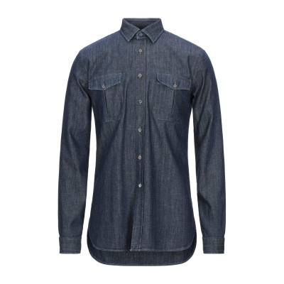 XACUS デニムシャツ ブルー M コットン 100% デニムシャツ
