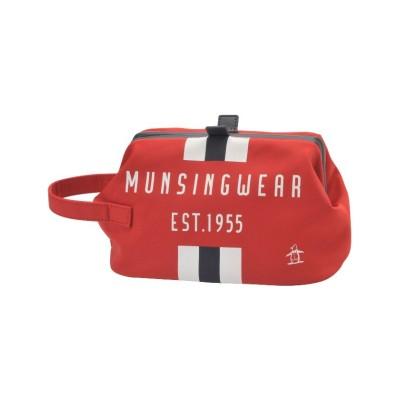 【マンシングウェア】 プリントラウンドポーチ メンズ レッド系 F Munsingwear
