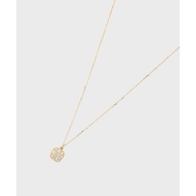 COCOSHNIK(ココシュニック)K18ダイヤモンド ランダムパヴェ スクエアネックレス