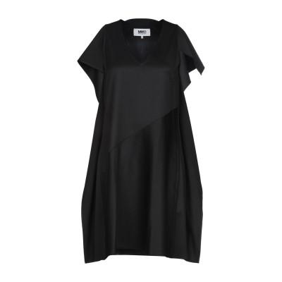 MM6 メゾン マルジェラ MM6 MAISON MARGIELA ミニワンピース&ドレス ブラック 46 54% ポリエステル 44% バージンウ