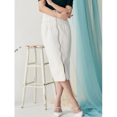 RESEXXY / センタージップハイウエストスカート WOMEN スカート > デニムスカート