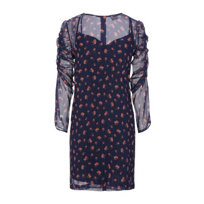 メルシー ..,MERCI ミニワンピース&ドレス ダークパープル 40 ポリエステル 100% ミニワンピース&ドレス