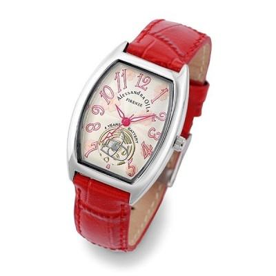 アレサンドラオーラ レディース 時計 腕時計 AO-4850RE レッド クオーツ レディースウォッチ AO4850RE Alessandra Olla リストウォッチ