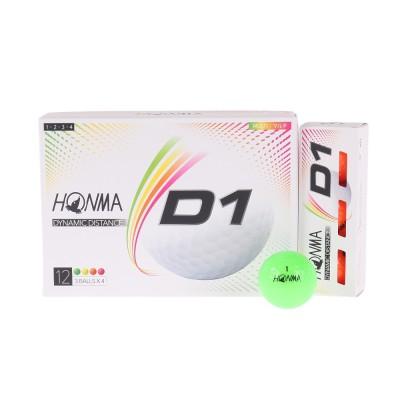 本間ゴルフボールD1ボール 1ダース(12個) BT2001L MCレインボー