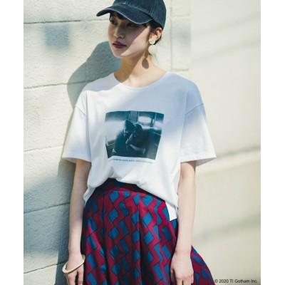 【ハコ】 フォトマガジン「LIFE」コラボ 大人のためのしなやかフォトプリントTシャツ レディース ホワイト LL haco!