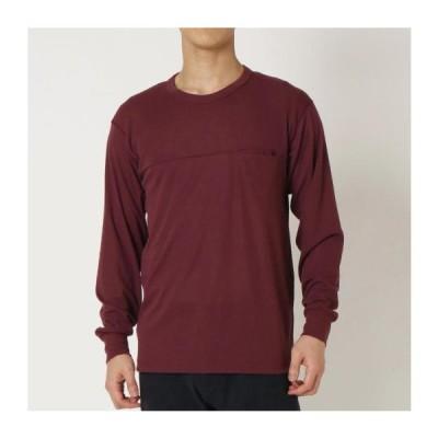[ミズノ] ウールライトインナーポケットクルーネックシャツ[メンズ] タウニーポートレッド