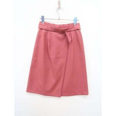 SOUP(スープ)フェイクラップ台形スカート ピンク レディース Aランク 7 [委託倉庫から出荷]