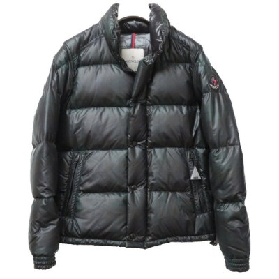 モンクレール エバー コンブルー ダウンジャケット グリーン チェック サイズ0 メンズ 0205 MONCLER