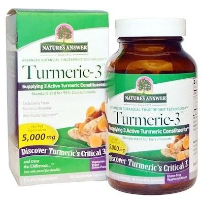 Turmeric-3, 5,000 mg, 90 Vegetarian Capsules