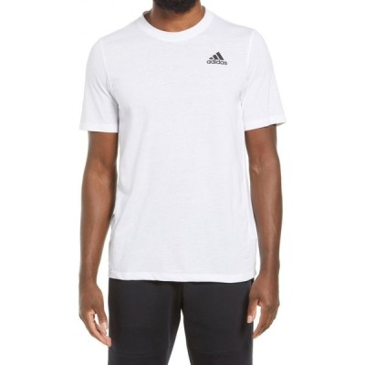 アディダス ADIDAS メンズ Tシャツ トップス Logo T-Shirt White/Black