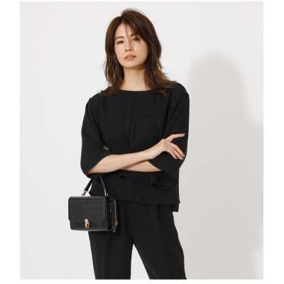 (AZUL by moussy/アズールバイマウジー)LAYER FLARE BLOUSE/レディース BLK