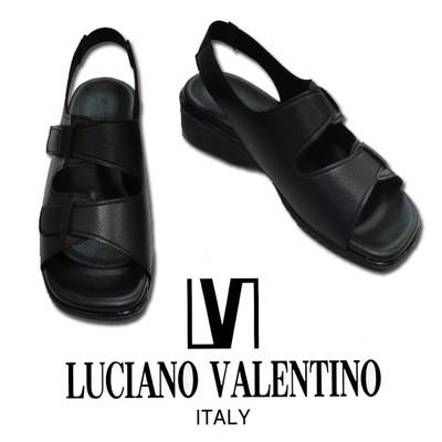 LUCIANO VALENTINO ルチアノバレンチノ  2本ベルト付サンダル ナースサンダル オフィスサンダル/やわらかい/事務用/湧泉のツボ/クッション性/婦人/介護用/日本製