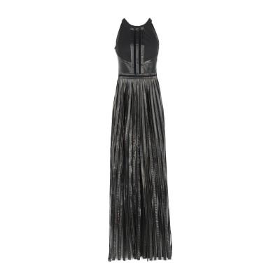 ジャストカヴァリ JUST CAVALLI ロングワンピース&ドレス ブラック 42 ポリエステル 100% / コットン / ポリウレタン / ポ