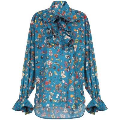 ULTRA'CHIC シャツ ブルー 40 コットン 97% / ポリウレタン 3% シャツ