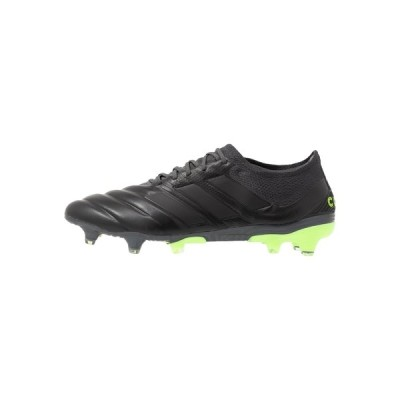 アディダス ブーツ&レインブーツ メンズ シューズ COPA 20.1 FOOTBALL FIRM GROUND - Moulded stud football boots - core black/signal green