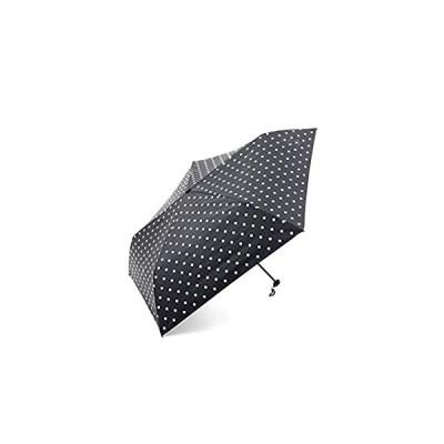 [ アフタヌーンティー リビング ] AfternoonTea LIVING 折りたたみ傘 GM07 ドット 柄 晴雨兼用 折りたたみ傘 日傘 ブラッ