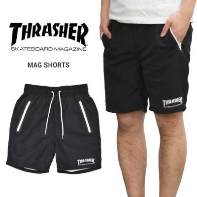 THRASHER スラッシャー MAG SHORTS ナイロン ショートパンツ ショーツ ハーフパンツ イージーパンツ TH6044