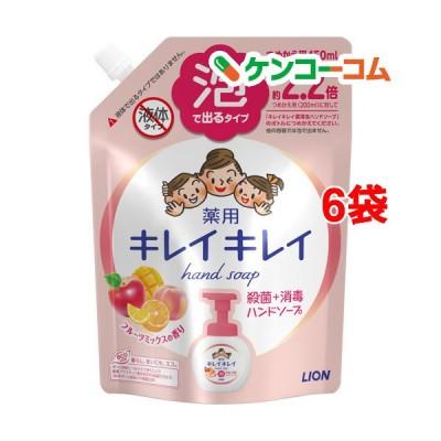 キレイキレイ 泡ハンドソープ フルーツミックスの香り 詰替え用 大型サイズ ( 450ml*6袋セット )/ キレイキレイ