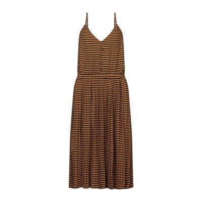 セッスン SESSUN 7分丈ワンピース・ドレス キャメル L ポリエステル 96% / ポリウレタン 3% / 金属繊維 1% 7分丈ワンピース・