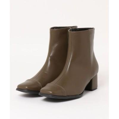 kobelettuce / スクエトゥライナーファーショートブーツ WOMEN シューズ > ブーツ