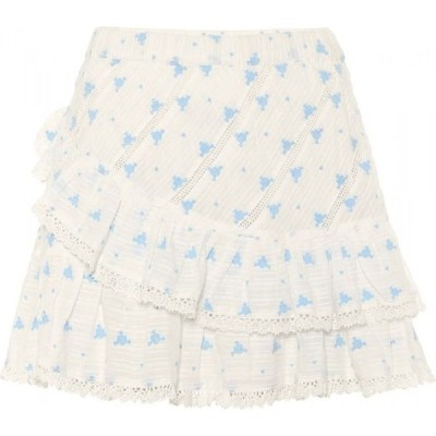 ラブシャックファンシー LoveShackFancy レディース ミニスカート スカート emma floral cotton miniskirt Bubble Blue