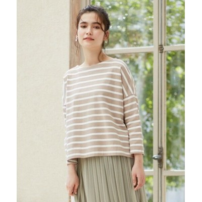 any SiS/エニィスィス 【L'aube】 バスクシャツ カットソー モカ×オフホワイト 2