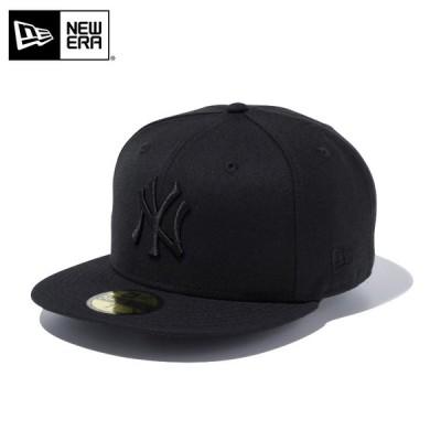 【メーカー取次】 NEW ERA ニューエラ 59FIFTY MLB ニューヨーク・ヤンキース ブラックXブラック 12336664 キャップ ブランド【クーポン対象外】