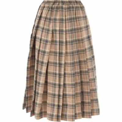 ザニーニ Zanini レディース ひざ丈スカート スカート Plaid pleated linen skirt Teal blue