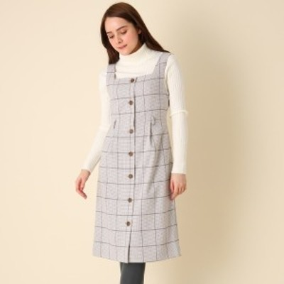 クチュールブローチ(Couture Brooch)/【手洗い可】チェックジャンパースカート