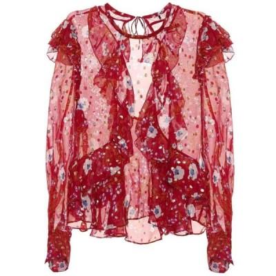 イザベル マラン Isabel Marant レディース ブラウス・シャツ トップス muster ruffled floral blouse Raspberry