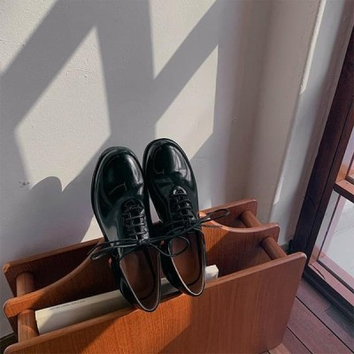 GIVEU レディース ローファー Candle oxford shoes