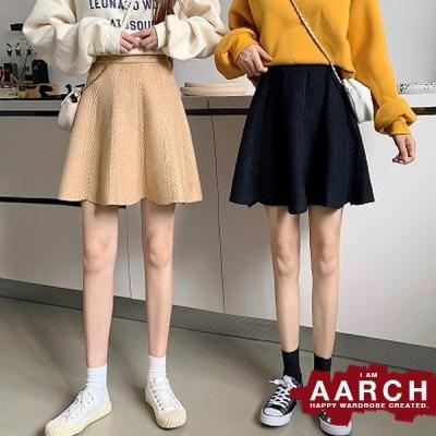 大きいサイズ スカート レディース ファッション ぽっちゃり おおきいサイズ  ニット サーキュラー フレア ミニスカート 脚長 美脚 LL 3L 4L 5L 秋冬