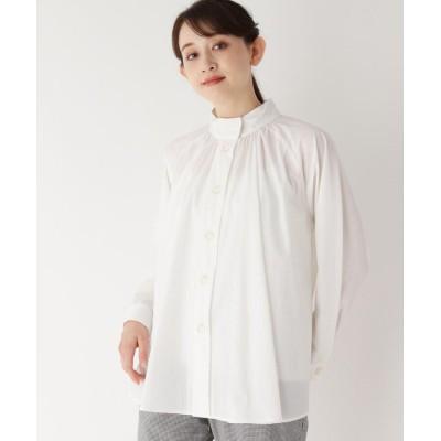 furryrate(ファーリーレイト) ギャザースタンドネックフレアシャツ