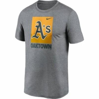 ナイキ Nike メンズ Tシャツ トップス Oakland Athletics Gray Local Legend T-Shirt