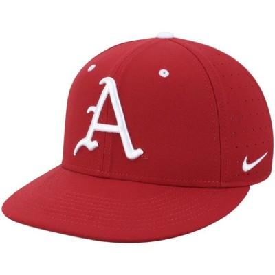 ユニセックス スポーツリーグ アメリカ大学スポーツ Arkansas Razorbacks Nike Aerobill Performance True Fitted Hat - Cardinal