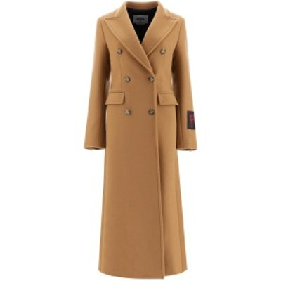 MSGM/エムエスジーエム ウールコート CAMELLO Msgm maxi double-breasted coat レディース 秋冬2020 2941MDC15 207521 ik