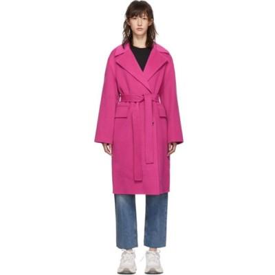 ケンゾー Kenzo レディース コート アウター Pink Belted Cocoon Coat Pink