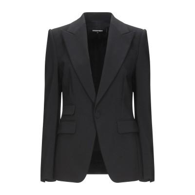 ディースクエアード DSQUARED2 テーラードジャケット ブラック 38 レーヨン 59% / コットン 38% / ポリウレタン 3% テーラ